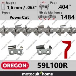 Rouleau de Chaîne de tronçonneuse Oregon 59L100R PowerCut .404