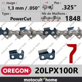 Chaîne de tronçonneuse Oregon 20LPX100R PowerCut .325