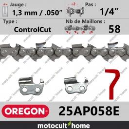Chaîne de tronçonneuse Oregon 25AP058E ControlCut 1/4