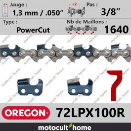 Rouleau de Chaîne de tronçonneuse Oregon 72LPX100R PowerCut 3/8