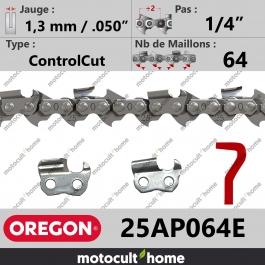 Chaîne de tronçonneuse Oregon 25AP064E ControlCut 1/4
