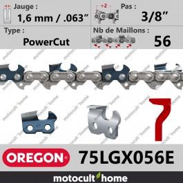 Chaîne de tronçonneuse Oregon 75LGX056E PowerCut 3/8