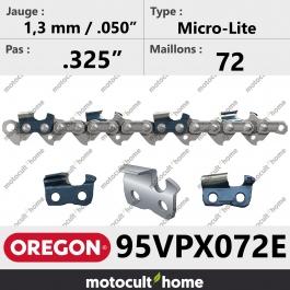 Chaîne de tronçonneuse Oregon 95VPX072E Micro-Lite .325