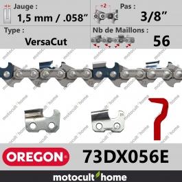 Chaîne de tronçonneuse Oregon 73DX056E VersaCut 3/8