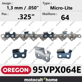 Chaîne de tronçonneuse Oregon 95VPX064E Micro-Lite .325