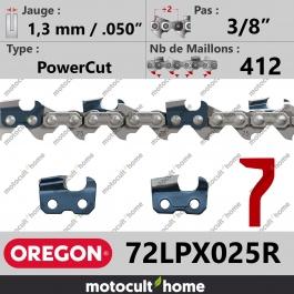 Rouleau de Chaîne de tronçonneuse Oregon 72LPX025R Micro-Lite 3/8