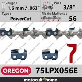 Chaîne de tronçonneuse Oregon 75LPX056E PowerCut 3/8