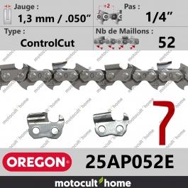 Chaîne de tronçonneuse Oregon 25AP052E ControlCut 1/4
