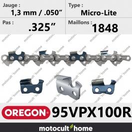 Rouleau de Chaîne de tronçonneuse Oregon 95VPX100R Micro-Lite .325