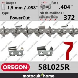 Rouleau de Chaîne de tronçonneuse Oregon 58L025R PowerCut .404