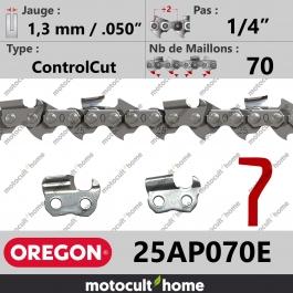 Chaîne de tronçonneuse Oregon 25AP070E ControlCut 1/4