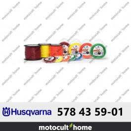 Bobine de fil silencieux Husqvarna Whisper 2,4mm 15m