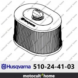 Filtre à air Husqvarna 510244103 ( 5102441-03 / 510 24 41-03 )