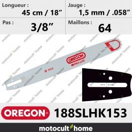 Guide de tronçonneuse Oregon 188SLHK153 Pro-Lite 45 cm