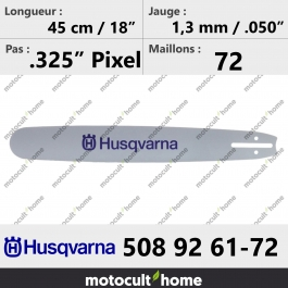 Guide de tronçonneuse Husqvarna 508926172 ( 5089261-72 / 508 92 61-72) 45 cm