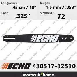 Guide de tronçonneuse Echo 43051732530 ( 430517-32530 ) 45 cm