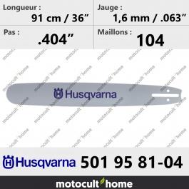 Guide de tronçonneuse Husqvarna 501958104 ( 5019581-04 / 501 95 81-04 ) 90 cm