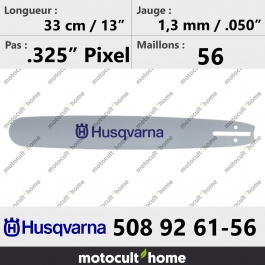 Guide de tronçonneuse Husqvarna 508926156 ( 5089261-56 / 508 92 61-56 ) 32 cm