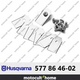 Couteau - Lame pour robot Husqvarna 0,6mm pour Automower par 9