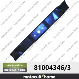 Lame de tondeuse Castelgarden Honda 81004346/3 CG81004346H3