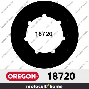 """Bague de pignon Oregon 18720 3/8"""" Petite Cannelure 7 (SM7)-30"""
