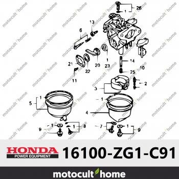 Ensemble Carburateur Honda 16100ZG1C91 (16100-ZG1-C91) (BF05C B)-30