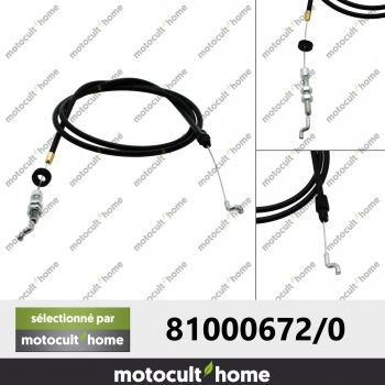Câble de traction GGP Castelgarden 810006720 ( 81000672/0 )-30