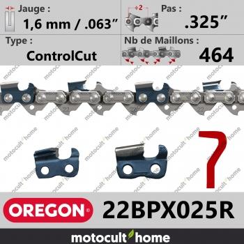 """Rouleau de Chaîne de tronçonneuse Oregon 22BPX025R .325"""" 1,6mm/.063andquot; 464 maillons-30"""