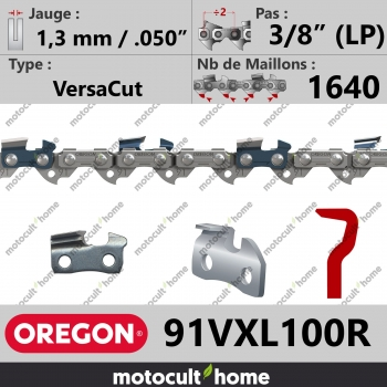 """Rouleau de Chaîne de tronçonneuse Oregon 91VXL100R VersaCut 3/8"""" (LP) 1,3mm/.050andquot; 1640 maillons-30"""
