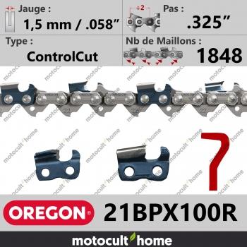 """Rouleau de chaîne de tronçonneuse Oregon 21BPX100R .325"""" 1,5mm/.058andquot; 1848 maillons-30"""