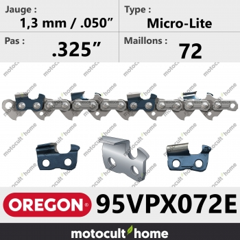 """Chaîne de tronçonneuse Oregon 95VPX072E Micro-Lite .325"""" 1,3mm/.050andquot; 72 maillons-30"""