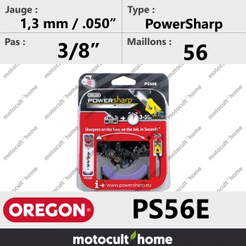 """Chaîne de tronçonneuse Oregon PS56E PowerSharp 3/8"""" 1,3mm/.050andquot; 56 maillons-30"""