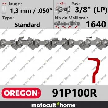 """Rouleau de Chaîne de tronçonneuse Oregon 91P100R Standard 3/8"""" (LP) 1,3mm/.050andquot; 1640 maillons-30"""