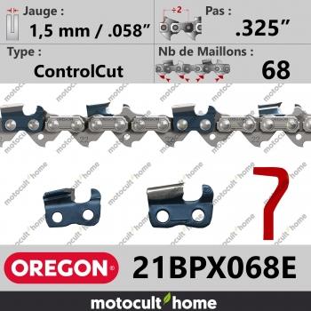 """Chaîne de tronçonneuse Oregon 21BPX068E .325"""" 1,5mm/.058andquot; 68 maillons-30"""