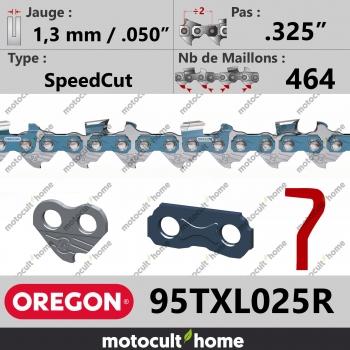 """Rouleau de Chaîne de tronçonneuse Oregon 95TXL025R SpeedCut .325"""" 1,3mm/.050andquot; 464 maillons-30"""