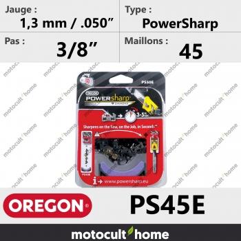 """Chaîne de tronçonneuse Oregon PS45E PowerSharp 3/8"""" 1,3mm/.050andquot; 45 maillons-30"""