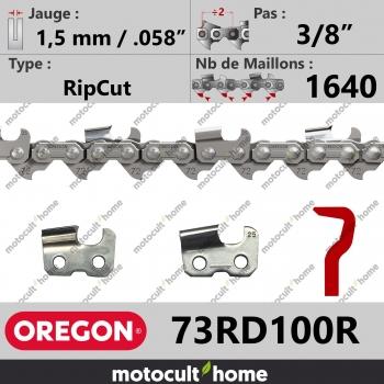 """Rouleau de Chaîne de tronçonneuse Oregon 73RD100R RipCut 3/8"""" 1,5mm/.058andquot; 1640 maillons-30"""