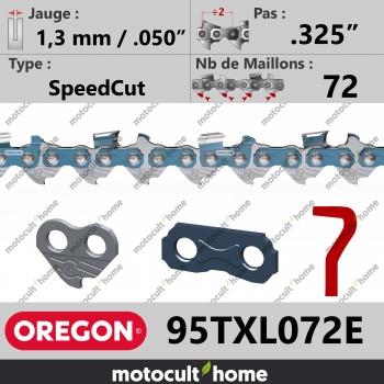 """Chaîne de tronçonneuse Oregon 95TXL072E SpeedCut .325"""" 1,3mm/.050andquot; 72 maillons-30"""