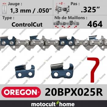 """Rouleau de Chaîne de tronçonneuse Oregon 20BPX025R .325"""" 1,3mm/.050andquot; 464 maillons-30"""