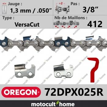 """Rouleau de Chaîne de tronçonneuse Oregon 72DPX025R VersaCut 3/8"""" 1,3mm/.050andquot; 412 maillons-30"""