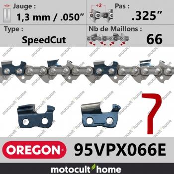 """Chaîne de tronçonneuse Oregon 95VPX066E Micro-Lite .325"""" 1,3mm/.050andquot; 66 maillons-30"""