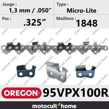 """Rouleau de Chaîne de tronçonneuse Oregon 95VPX100R Micro-Lite .325"""" 1,3mm/.050andquot; 1848 maillons-30"""