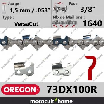 """Rouleau de Chaîne de tronçonneuse Oregon 73DX100R 3/8"""" 1,5mm/.058andquot; 1640 maillons-30"""