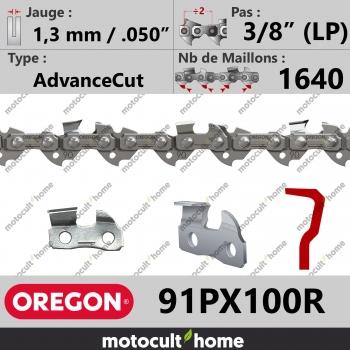 """Rouleau de Chaîne de tronçonneuse Oregon 91PX100R AdvanceCut 3/8"""" (LP) 1,3mm/.050andquot; 1640 maillons-30"""