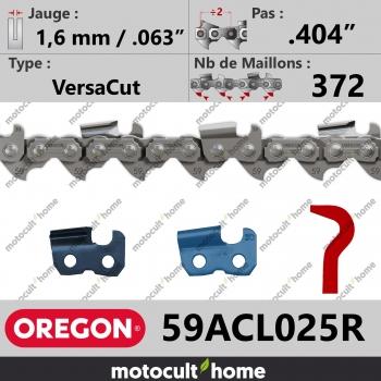"""Rouleau de Chaîne de tronçonneuse Oregon 59ACL025R VersaCut .404"""" 1,6mm/.063andquot; 372 maillons-30"""