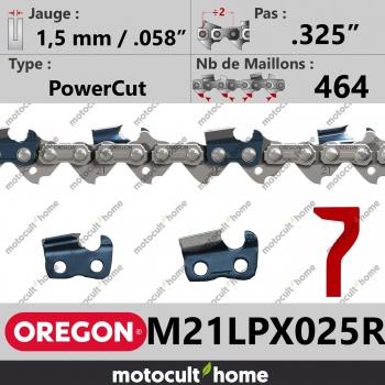 """Rouleau de Chaîne de tronçonneuse Oregon M21LPX025R DuraCut .325"""" 1,5mm/.058andquot; 464 maillons-30"""