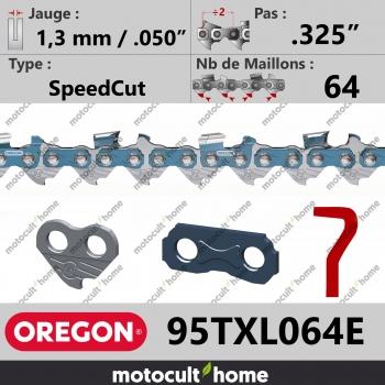 """Chaîne de tronçonneuse Oregon 95TXL064E SpeedCut .325"""" 1,3mm/.050andquot; 64 maillons-30"""