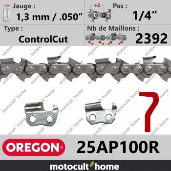 """Rouleau de Chaîne de tronçonneuse Oregon 25AP100R ControlCut 1/4"""" 1,3mm/.050andquot; 2392 maillons-30"""