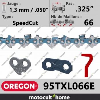 """2 x Chaine de tronconneuse 325/"""" 0.058/"""" 1,5mm 72 Maillons"""