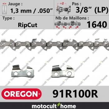 """Rouleau de Chaîne de tronçonneuse Oregon 91R100R RipCut 3/8"""" (LP) 1,3mm/.050andquot; 1640 maillons-30"""